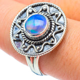 Ethiopian Opal Rings handcrafted by Ana Silver Co - RING30422