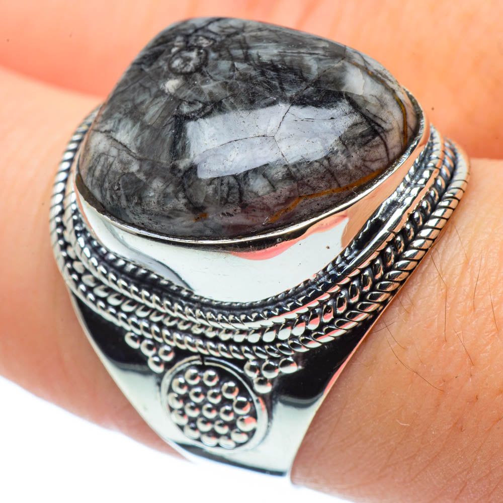 Pinolith Jasper Rings handcrafted by Ana Silver Co - RING30438