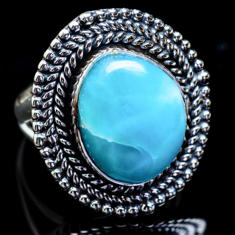 Larimar Rings handcrafted by Ana Silver Co - RING3052