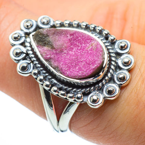 Cobalto Calcite Druzy Rings handcrafted by Ana Silver Co - RING30564