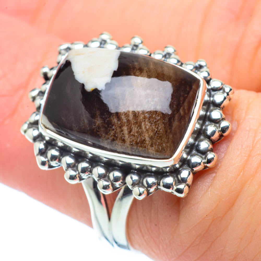 Peanut Wood Jasper Rings handcrafted by Ana Silver Co - RING30805