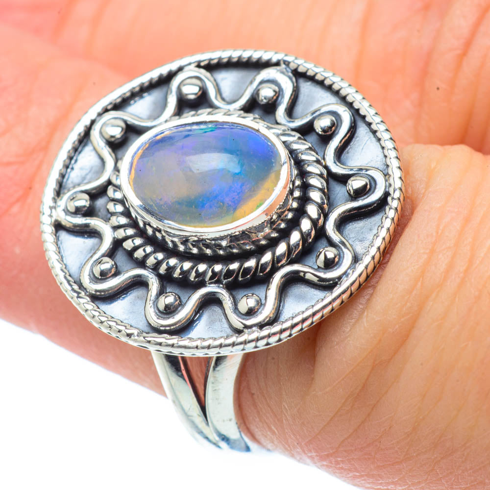 Ethiopian Opal Rings handcrafted by Ana Silver Co - RING30842