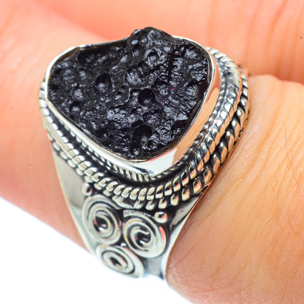 Tektite Rings handcrafted by Ana Silver Co - RING30902