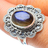 Labradorite Rings handcrafted by Ana Silver Co - RING30912