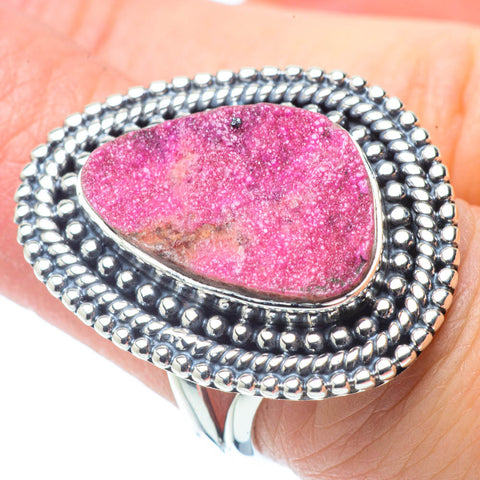 Cobalto Calcite Druzy Rings handcrafted by Ana Silver Co - RING31080