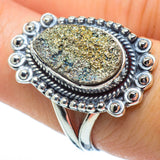 Spectro Pyrite Druzy Rings handcrafted by Ana Silver Co - RING31288