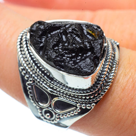 Tektite Rings handcrafted by Ana Silver Co - RING31317