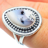 Dendritic Opal Rings handcrafted by Ana Silver Co - RING31319
