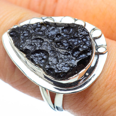 Tektite Rings handcrafted by Ana Silver Co - RING31357