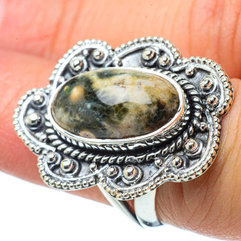 Ocean Jasper Rings handcrafted by Ana Silver Co - RING31511