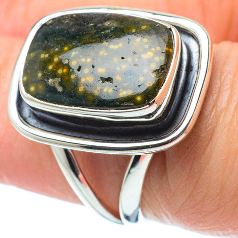 Ocean Jasper Rings handcrafted by Ana Silver Co - RING31736