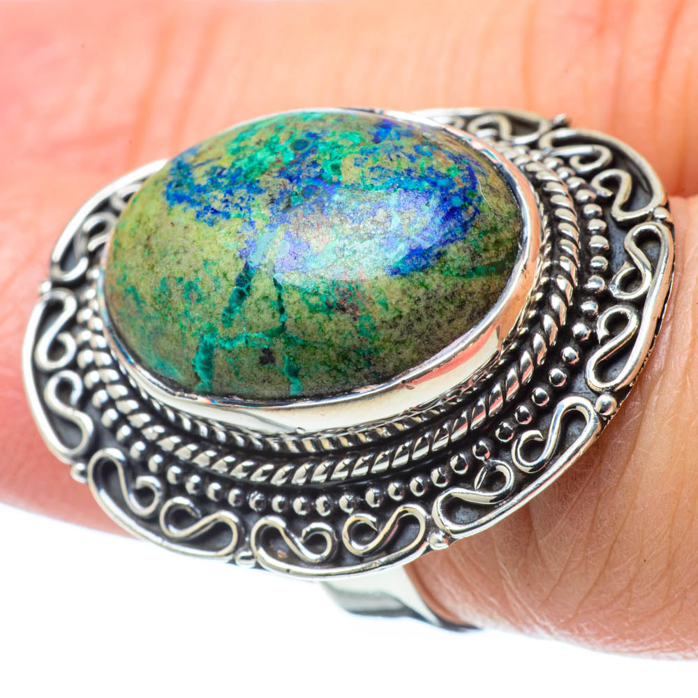 Azurite Rings handcrafted by Ana Silver Co - RING31826