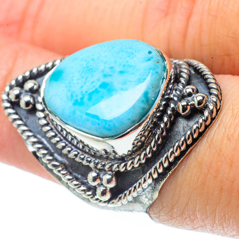 Larimar Rings handcrafted by Ana Silver Co - RING31834