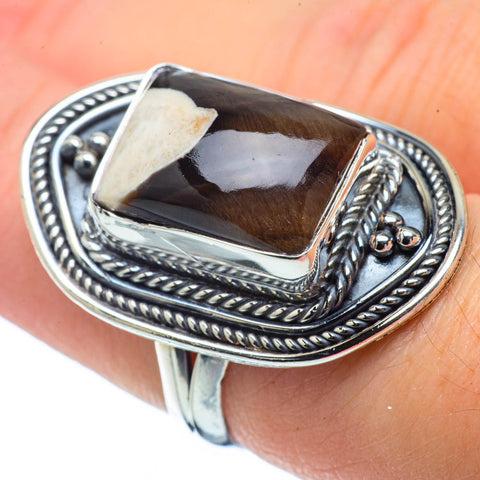 Peanut Wood Jasper Rings handcrafted by Ana Silver Co - RING31988