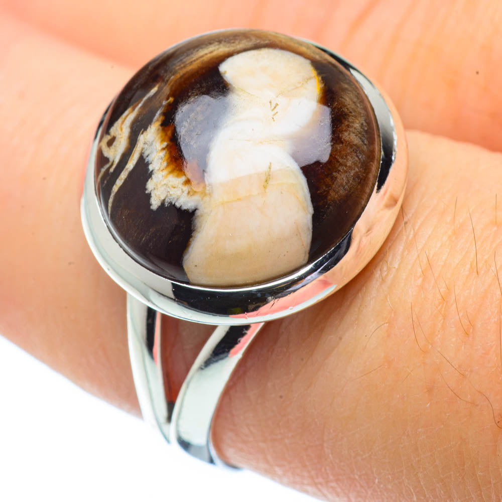 Peanut Wood Jasper Rings handcrafted by Ana Silver Co - RING32016