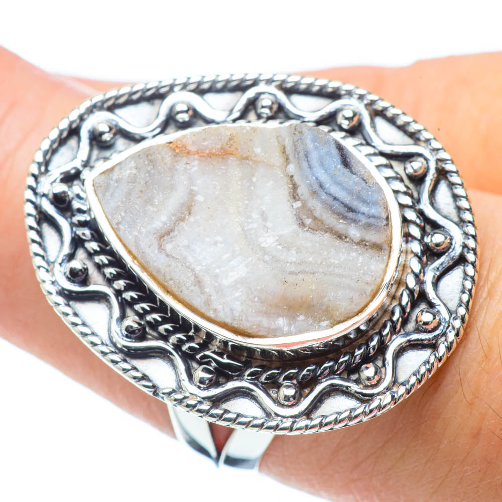 Desert Druzy Rings handcrafted by Ana Silver Co - RING32034