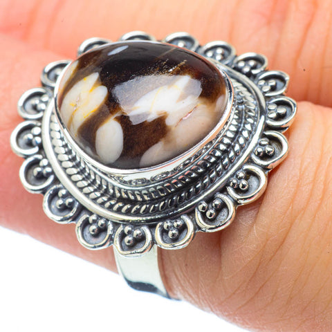 Peanut Wood Jasper Rings handcrafted by Ana Silver Co - RING32109