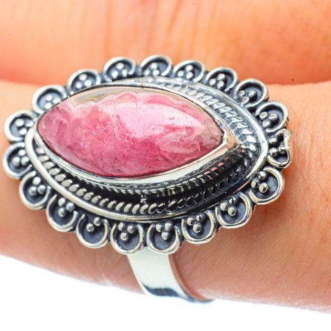 Rhodochrosite Rings handcrafted by Ana Silver Co - RING32188