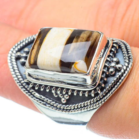 Peanut Wood Jasper Rings handcrafted by Ana Silver Co - RING32233