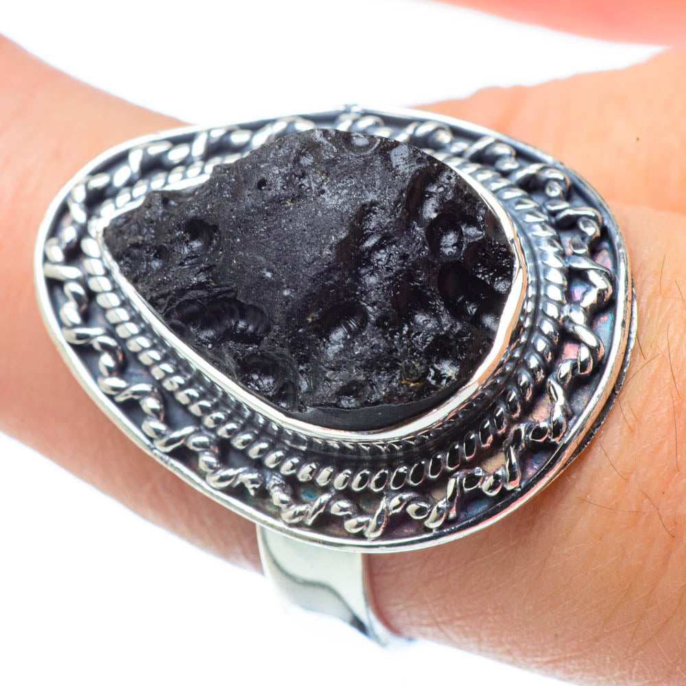 Tektite Rings handcrafted by Ana Silver Co - RING32252