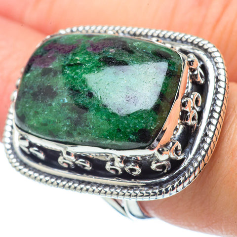 Ruby Zoisite Rings handcrafted by Ana Silver Co - RING32308