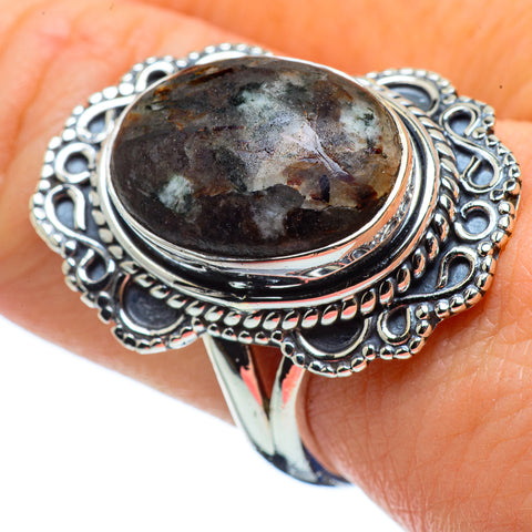 Russian Eudialyte Rings handcrafted by Ana Silver Co - RING32388