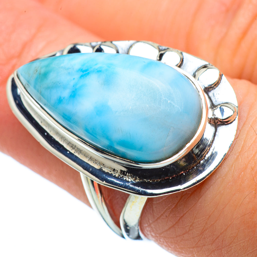 Larimar Rings handcrafted by Ana Silver Co - RING32411