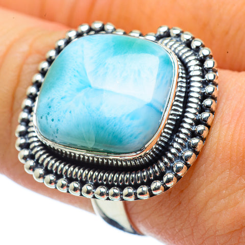 Larimar Rings handcrafted by Ana Silver Co - RING32495