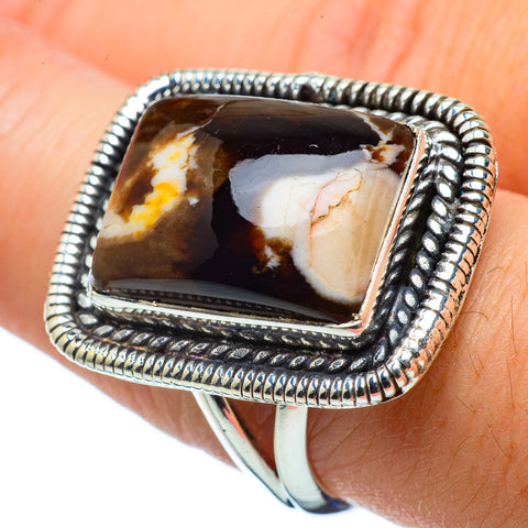 Peanut Wood Jasper Rings handcrafted by Ana Silver Co - RING32521