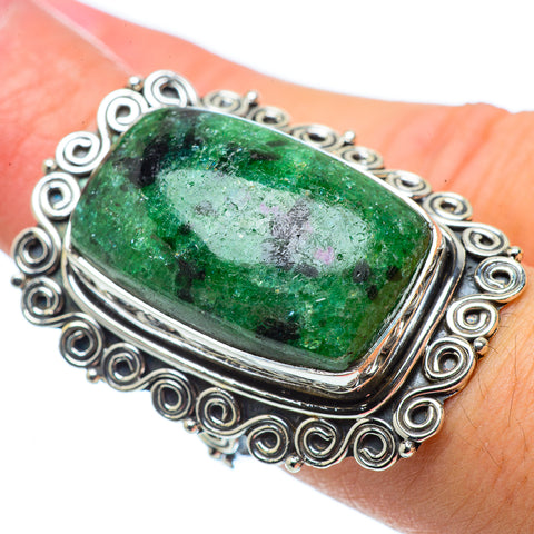 Ruby Zoisite Rings handcrafted by Ana Silver Co - RING32645