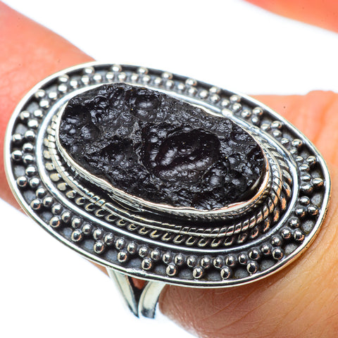 Tektite Rings handcrafted by Ana Silver Co - RING32710