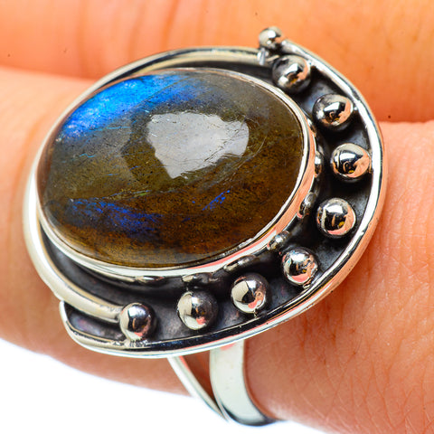 Labradorite Rings handcrafted by Ana Silver Co - RING32878