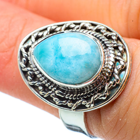 Larimar Rings handcrafted by Ana Silver Co - RING32902