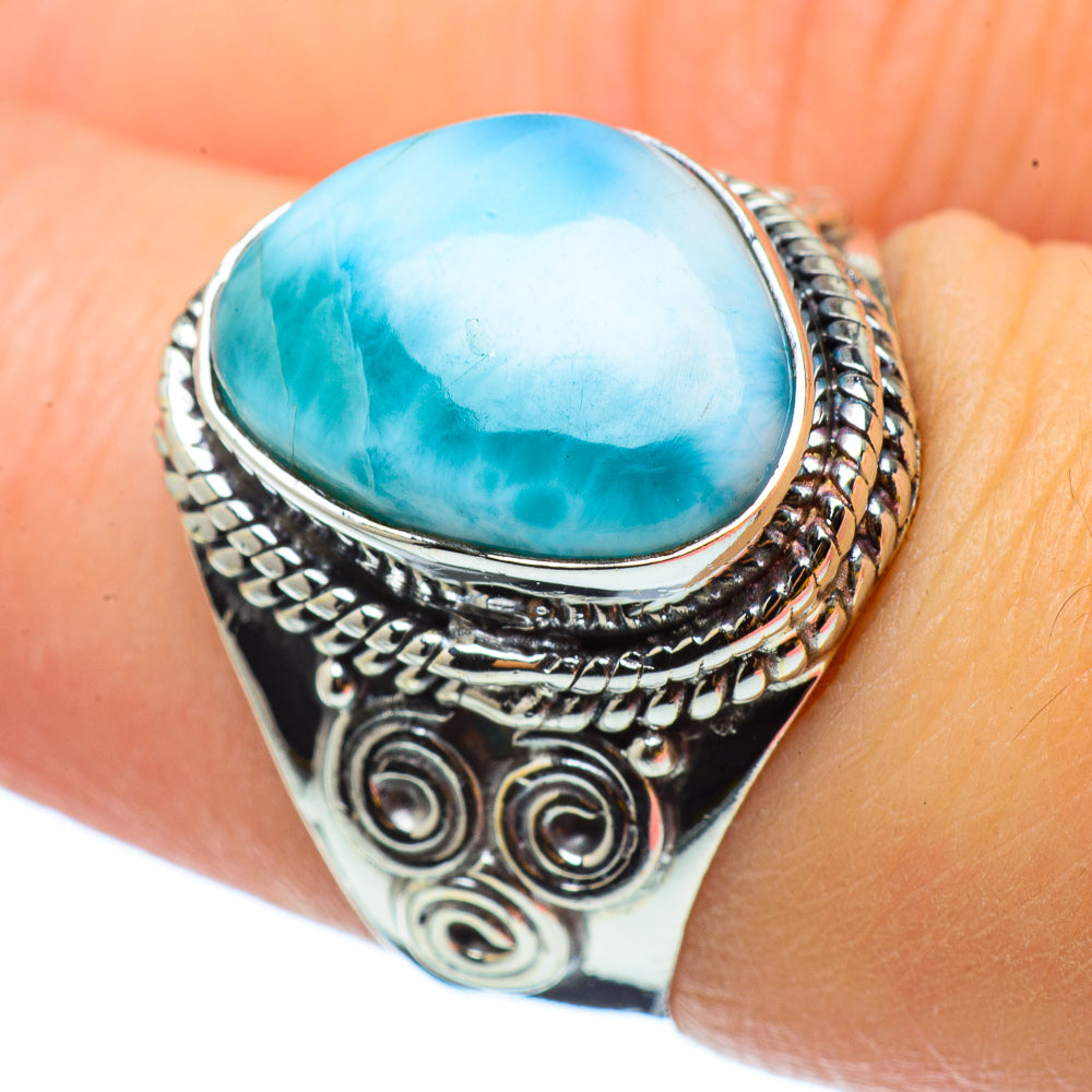 Larimar Rings handcrafted by Ana Silver Co - RING32926