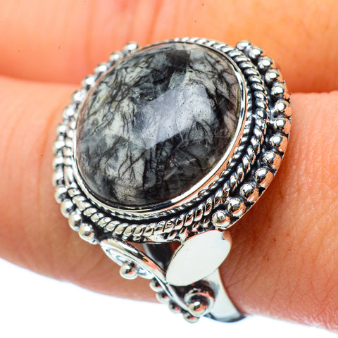 Pinolith Jasper Rings handcrafted by Ana Silver Co - RING33065