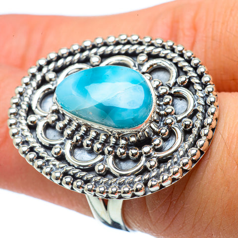 Larimar Rings handcrafted by Ana Silver Co - RING33087