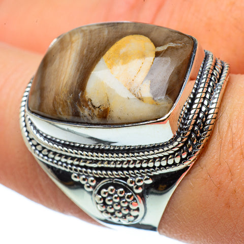 Peanut Wood Jasper Rings handcrafted by Ana Silver Co - RING33096