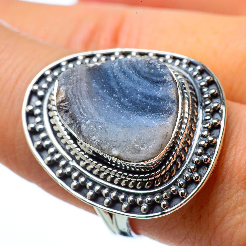 Desert Druzy Rings handcrafted by Ana Silver Co - RING33125