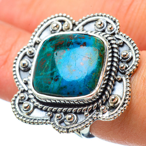 Chrysocolla Rings handcrafted by Ana Silver Co - RING33160