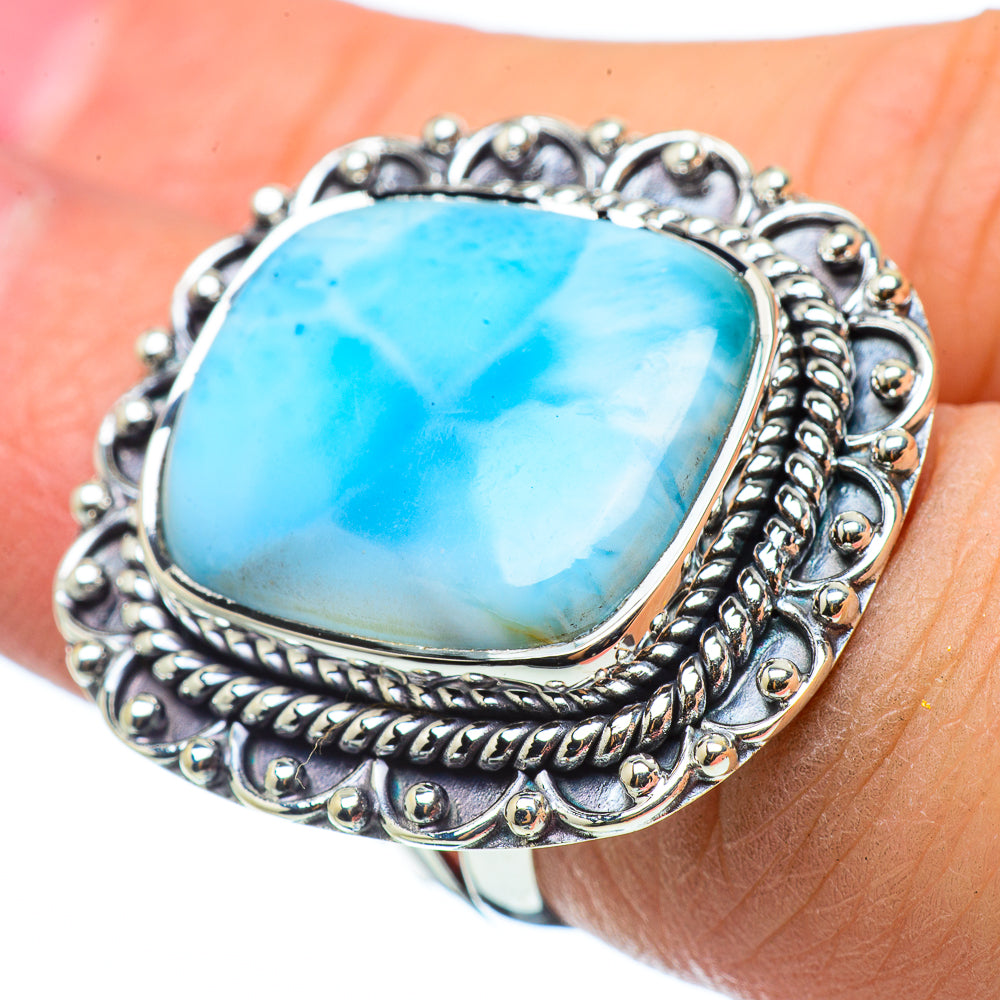 Larimar Rings handcrafted by Ana Silver Co - RING33431