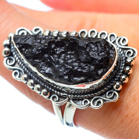Tektite Rings handcrafted by Ana Silver Co - RING33479