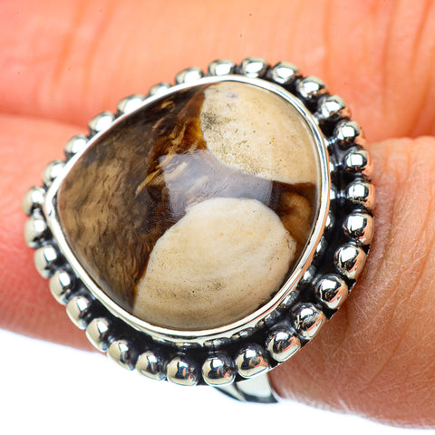 Peanut Wood Jasper Rings handcrafted by Ana Silver Co - RING33498