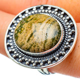Ocean Jasper Rings handcrafted by Ana Silver Co - RING33500
