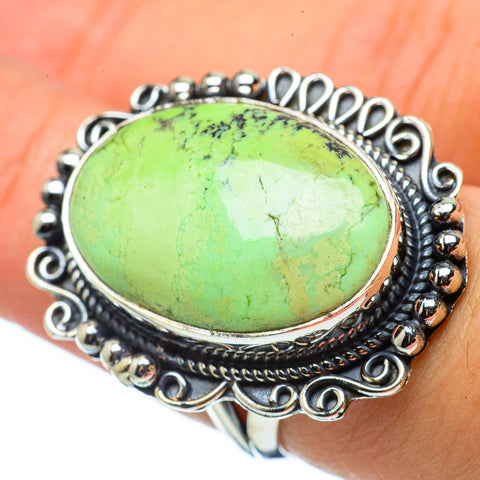 Lemon Chrysoprase Rings handcrafted by Ana Silver Co - RING33522