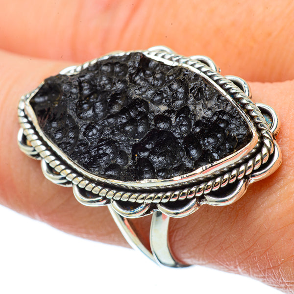 Tektite Rings handcrafted by Ana Silver Co - RING33606