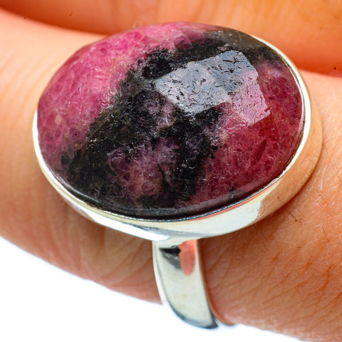 Rhodonite Rings handcrafted by Ana Silver Co - RING33723