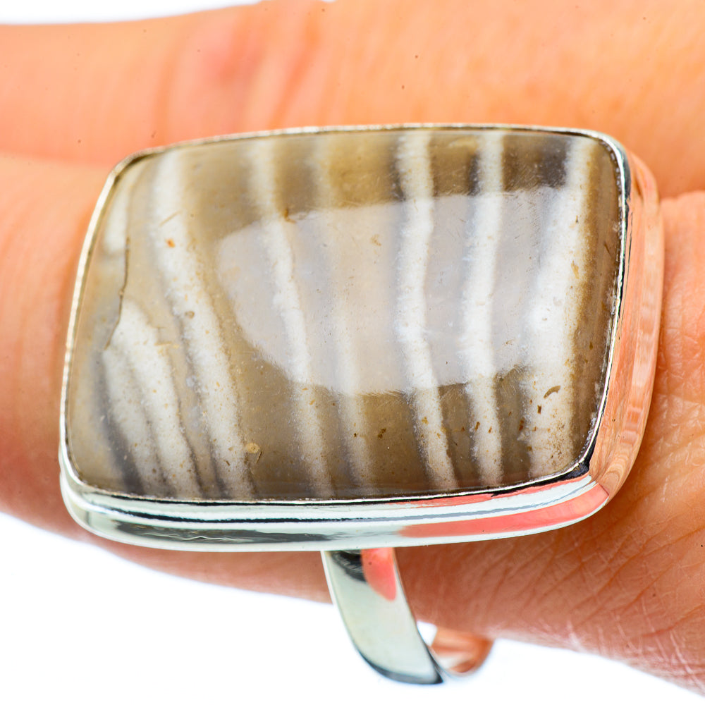 Peanut Wood Jasper Rings handcrafted by Ana Silver Co - RING34021