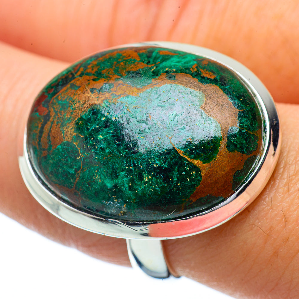Chrysocolla Rings handcrafted by Ana Silver Co - RING34385