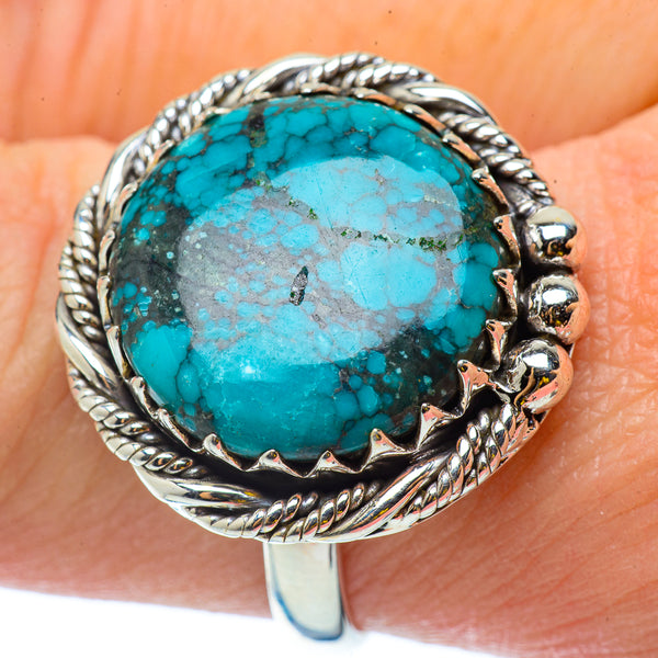 Tibetan Turquoise Rings handcrafted by Ana Silver Co - RING34568
