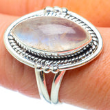 Rainbow Moonstone Rings handcrafted by Ana Silver Co - RING34687